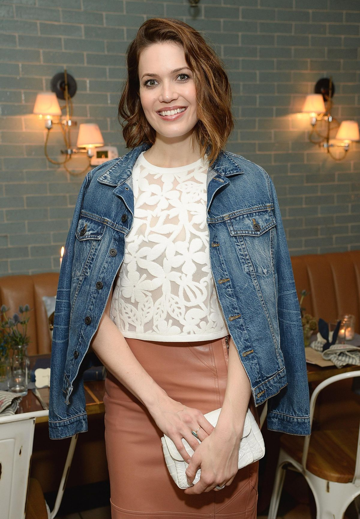MANDY MOORE at Anthropologie Celebrates a Denim Story in Los Angeles