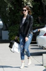 MANDY MOORE in Ripped Jeans Out in Los Angeles