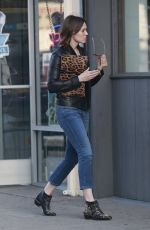 MANDY MOORE Out and About in Los Angeles