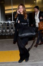 MARIA MENOUNOS All in Black at LAX Airport