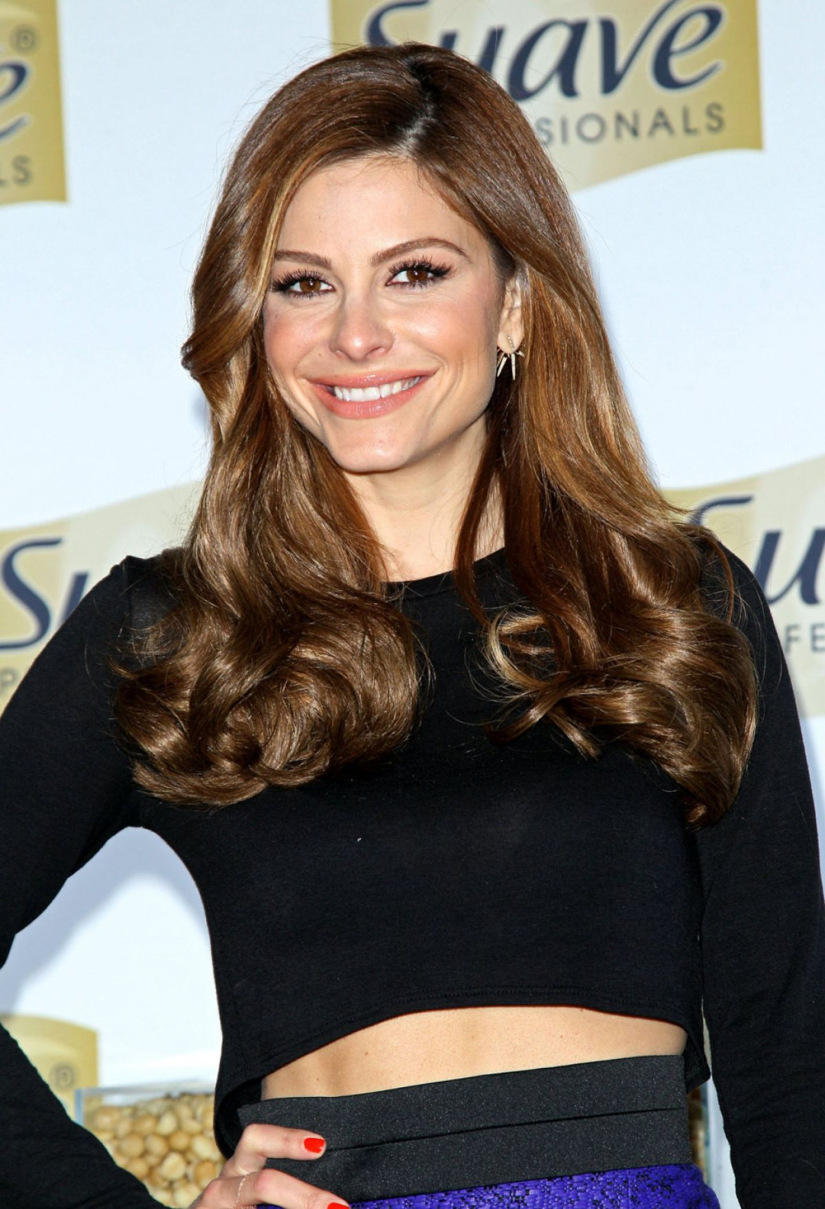 MARIA MENOUNOS at Suave Professionals Natural Infusion Collection Launch in New York