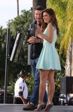 MARIA MENOUONS on the Set of Extra in Los Angeles 0503