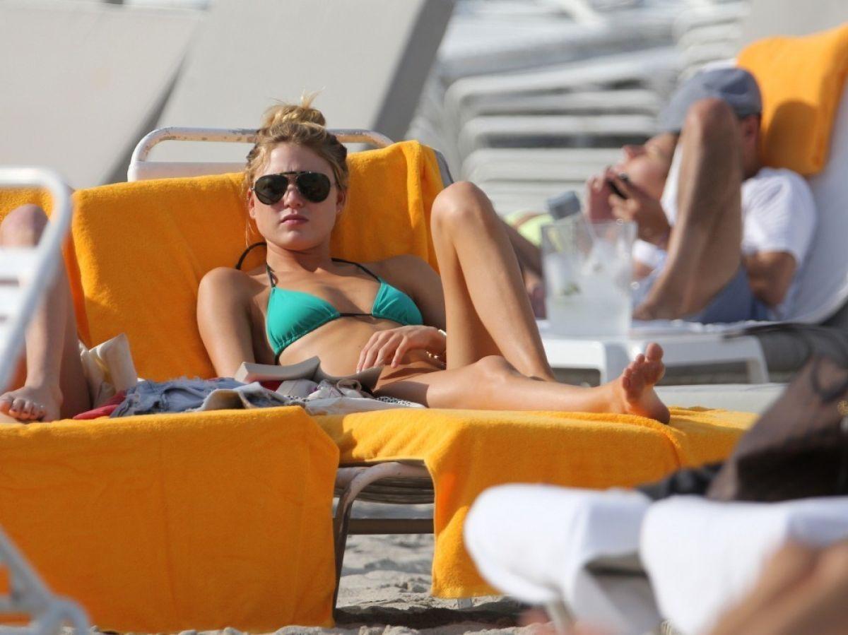 MARTHA HYNT in Bikini at a Beach in Miami