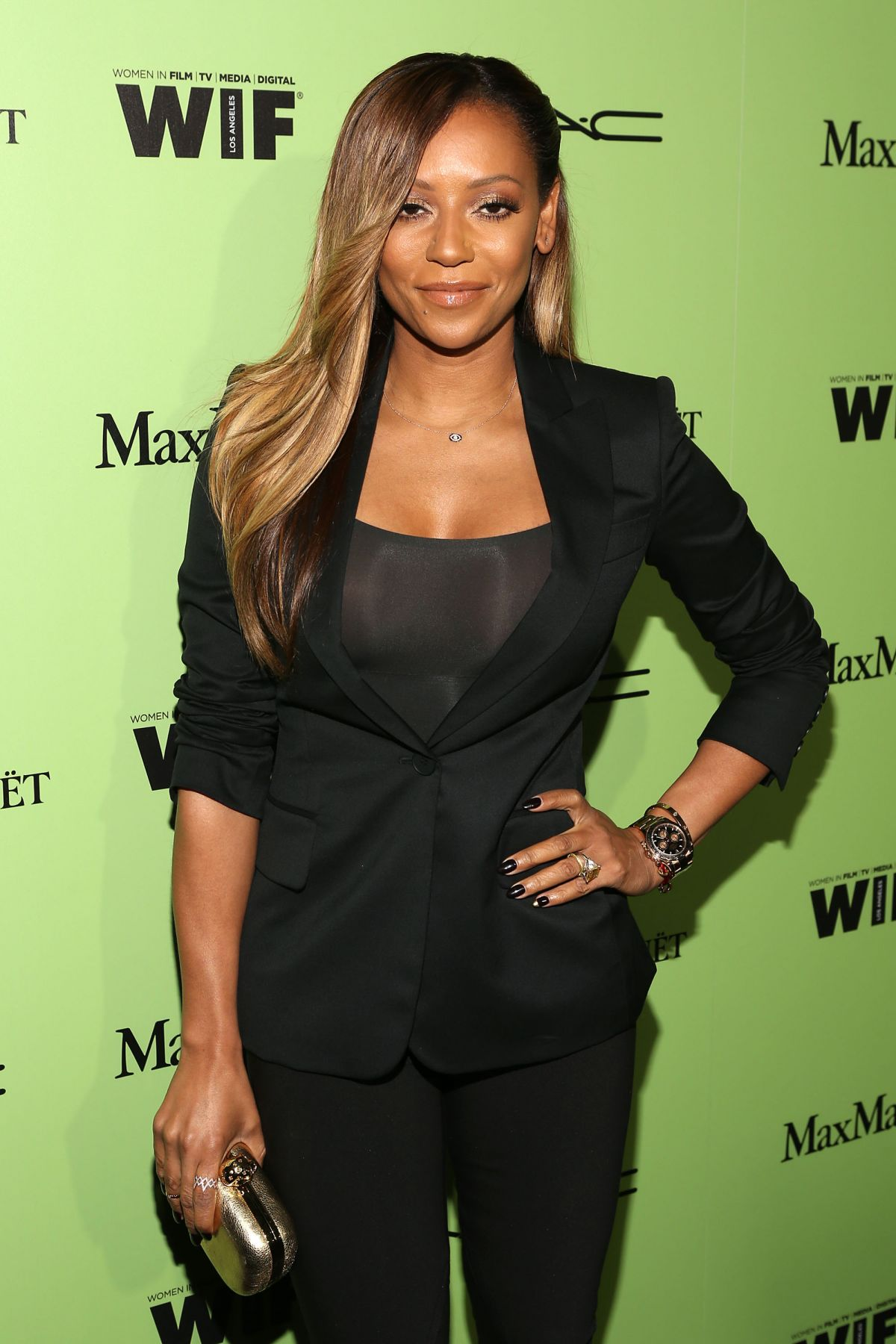 MELANIE BROWN at Women in Film Pre-oscar Cocktail in West Hollywood