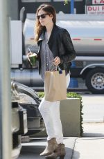 MICHELLE MONAGHAN Arrives at Earth Bar in Los Angeles