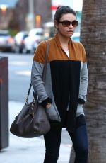 MILA KUNIS and Ashton Kutcher Out and About in studio City