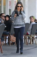 MILA KUNIS and Ashton Kutcher Out for Lunch in studio City