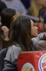 MILA KUNIS at Los Angeles Clippers Game