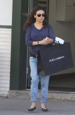 MILA KUNIS Out Shopping in Beverly Hills