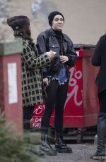 MILEY CYRUS at the District Donut and Coffee Shop in New Orleans