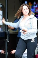 NATALIE CASSIDY Out and About in London