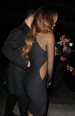 NICOLE SCHERZINGER Arrives at Hakkasan Restaurent in London