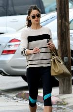 NIKKI REED in Leggings Heading to a Gym in Studio City