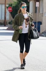NIKKI REED in Leggings Heading to Workout in Los Angeles