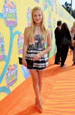 OLIVIA HOLT at 2014 Nickelodeon's Kids' Choice Awards in Los Angeles