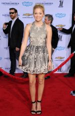 OLIVIA HOLT at Captain America: The Winter Soldier Premiere in Hollywood