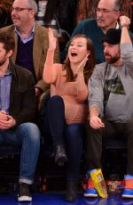OLIVIA WILDE at Pacers vs Knicks Basketball Game in New York