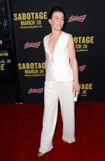 OLIVIA WILLIAMS at Sabotage Premiere in Los Angeles