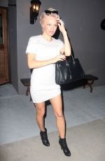 PAMELA ANDERSON Arrives at Crossroads in West Hollywood
