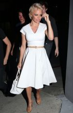 PAMELA ANDERSON Out for Dinner at Crossroads Restaurant in Los Angeles