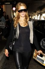 PARIS HILTON in Leather Pant at LAX Airport