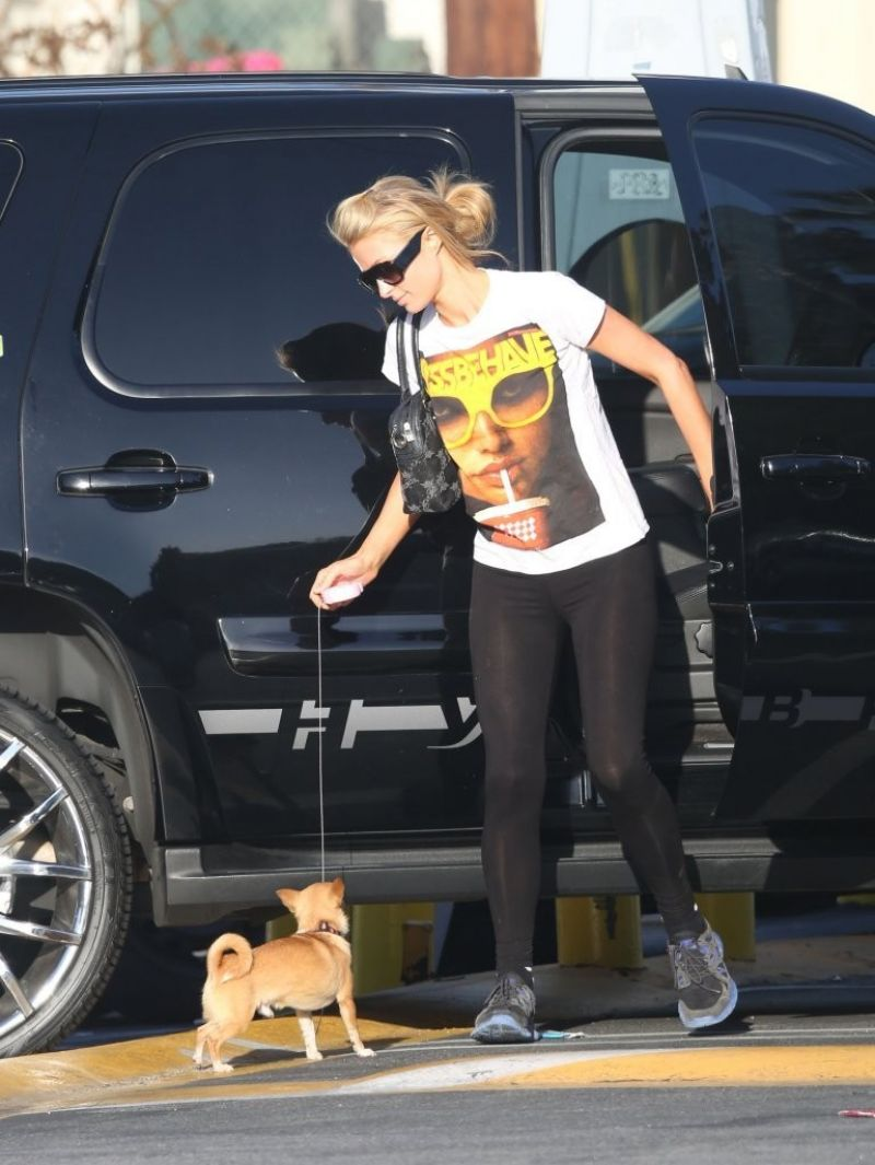 PARIS HILTON in Tights at Urban Outfitters in Studio City