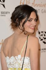 PHOEBE TONKIN at Humane Society of the US 60th Anniversary Gala in Beverly Hills