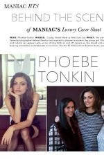 PHOEBE TONKIN in Maniac Magazine, April 2014 Issue