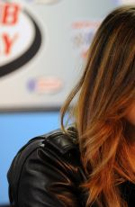 PIA TOSCANO at Nascar Sprint Cup Series Auto Club 400 Photocall in Fontana