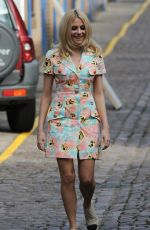 PIXIE LOTT Filming for a Sport Relief Sketch in London