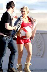 Pregnant ELSA PATAKY at a Photoshoot at a Beach