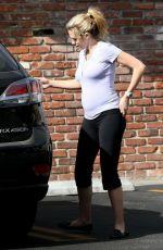 Pregnant TERESA PALMER in Leggings out Shopping in Los Feliz