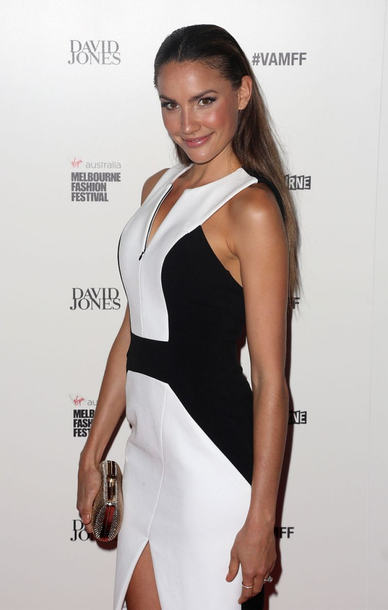 RACHAEL FINCH at David Jones Fashion Show in Melbourne