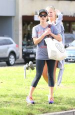 REESE WITHERSPOON Heading to Yoga Class in Brentwood
