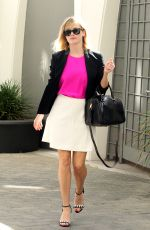 REESE WITHERSPOON in Skirt Leaves her Office in Beverly Hills