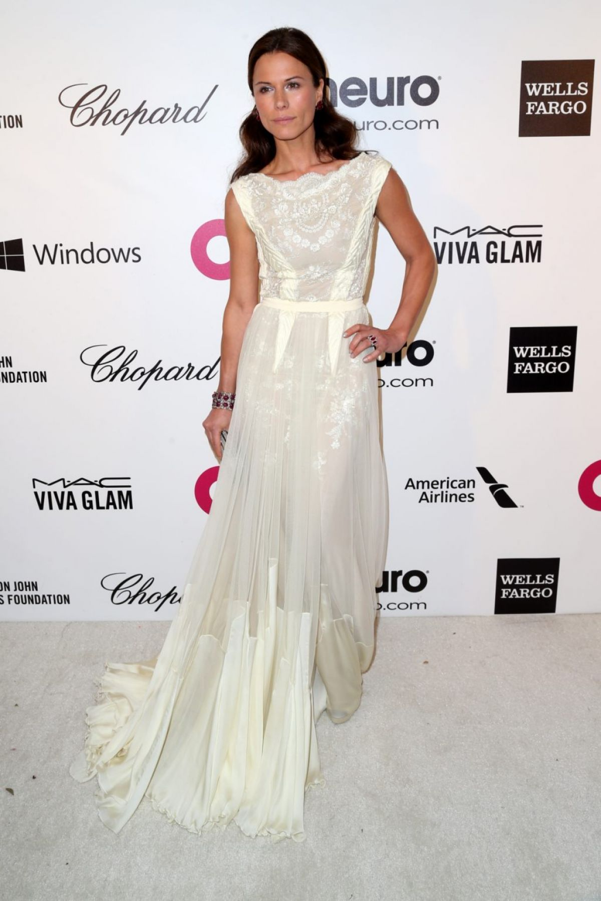 RHONA MITRA at Elton John Aids Foundation Oscar Party in Los Angeles