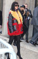 RIHANNA Arrives at Miu Miu Fashion Show in Paris
