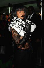 RIHANNA at Jean Paul Gaultier Fashion Show in Paris