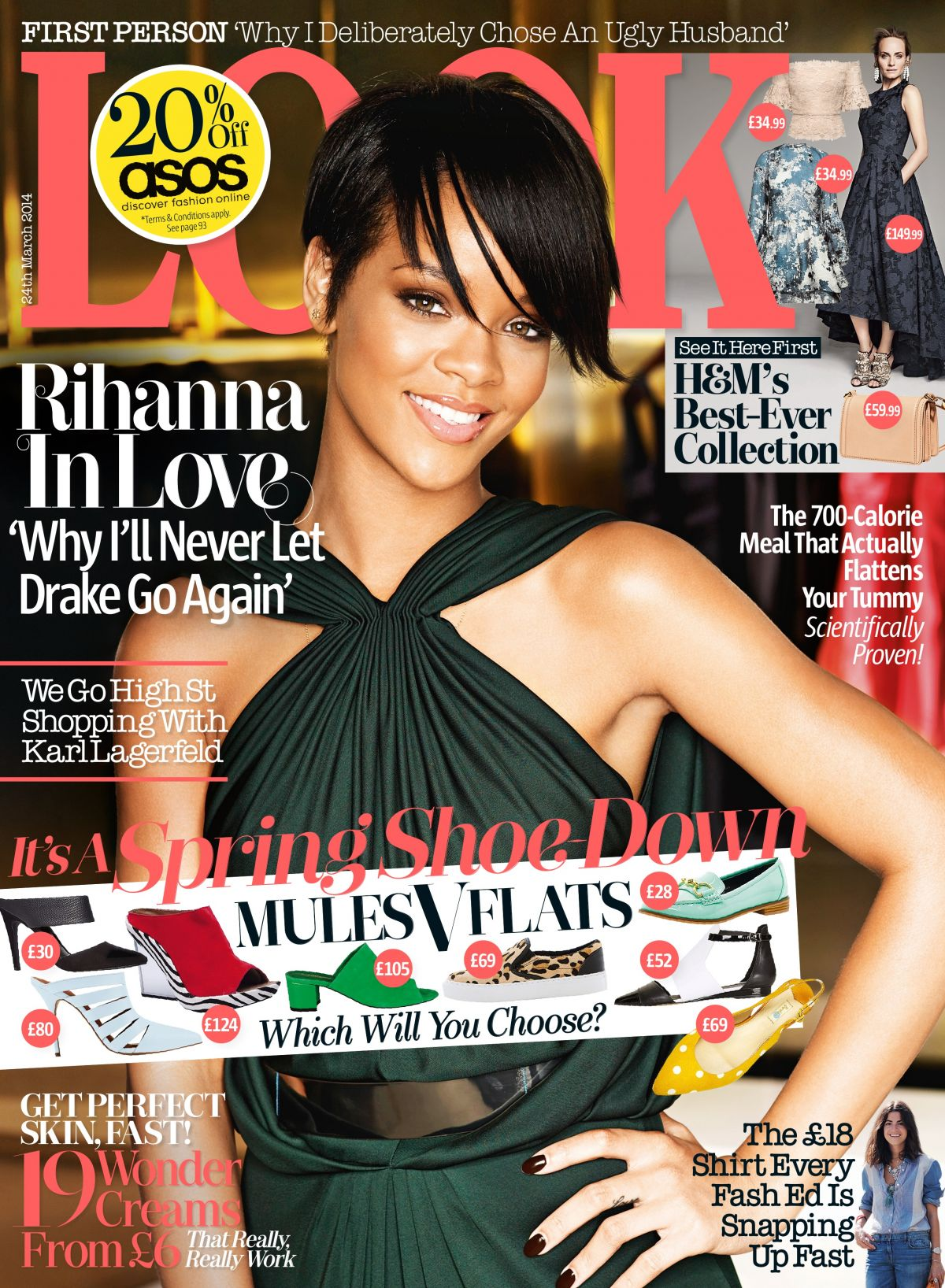 RIHANNA in Look Magazine, March 2014 Issue