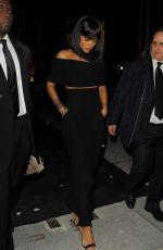 RIHANNA Leaves Porter Magazine Party in Paris