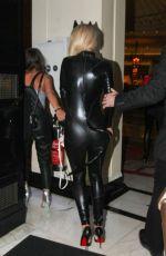 RITA ORA in Catsuit at Chakana Night Club in London
