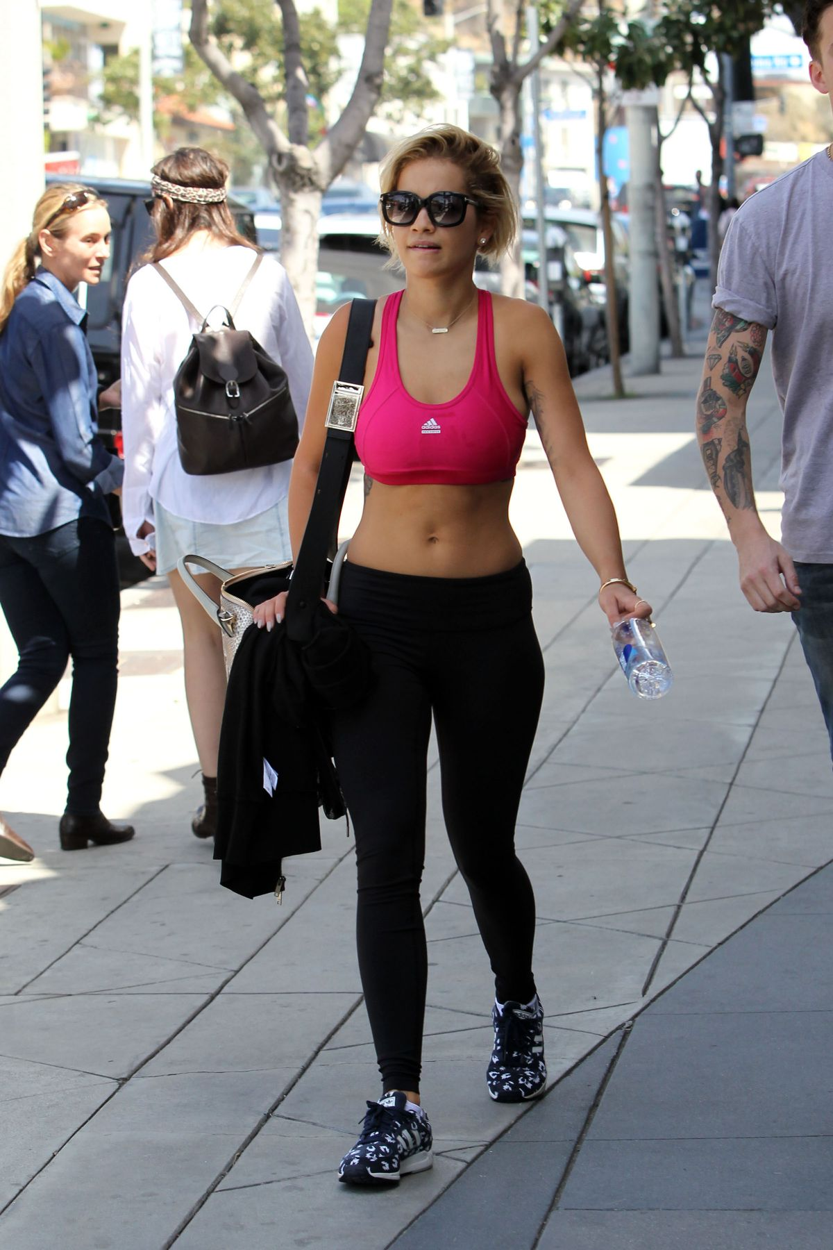 787c28740c221 RITA ORA in Tights Leaves a Gym in Los Angeles – HawtCelebs