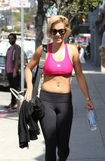 RITA ORA in Tights Leaves a Gym in Los Angeles