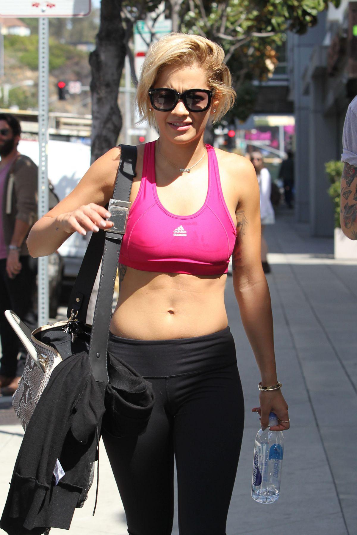 81845e9dd71b2e RITA ORA in Tights Leaves a Gym in Los Angeles – HawtCelebs
