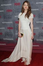 ROSE LESLIE at Game of Thrones Fourth Season Premiere in New York