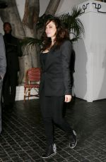 ROSE MCGOWAN Leaves Chateau Marmont in Los Angeles