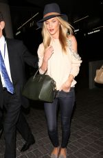 ROSIE HUNTINGTON-WHITELEY at LAX Airport in Los Angeles