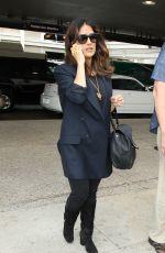 SALMA HAYEK at LAX Airport in Los Angeles