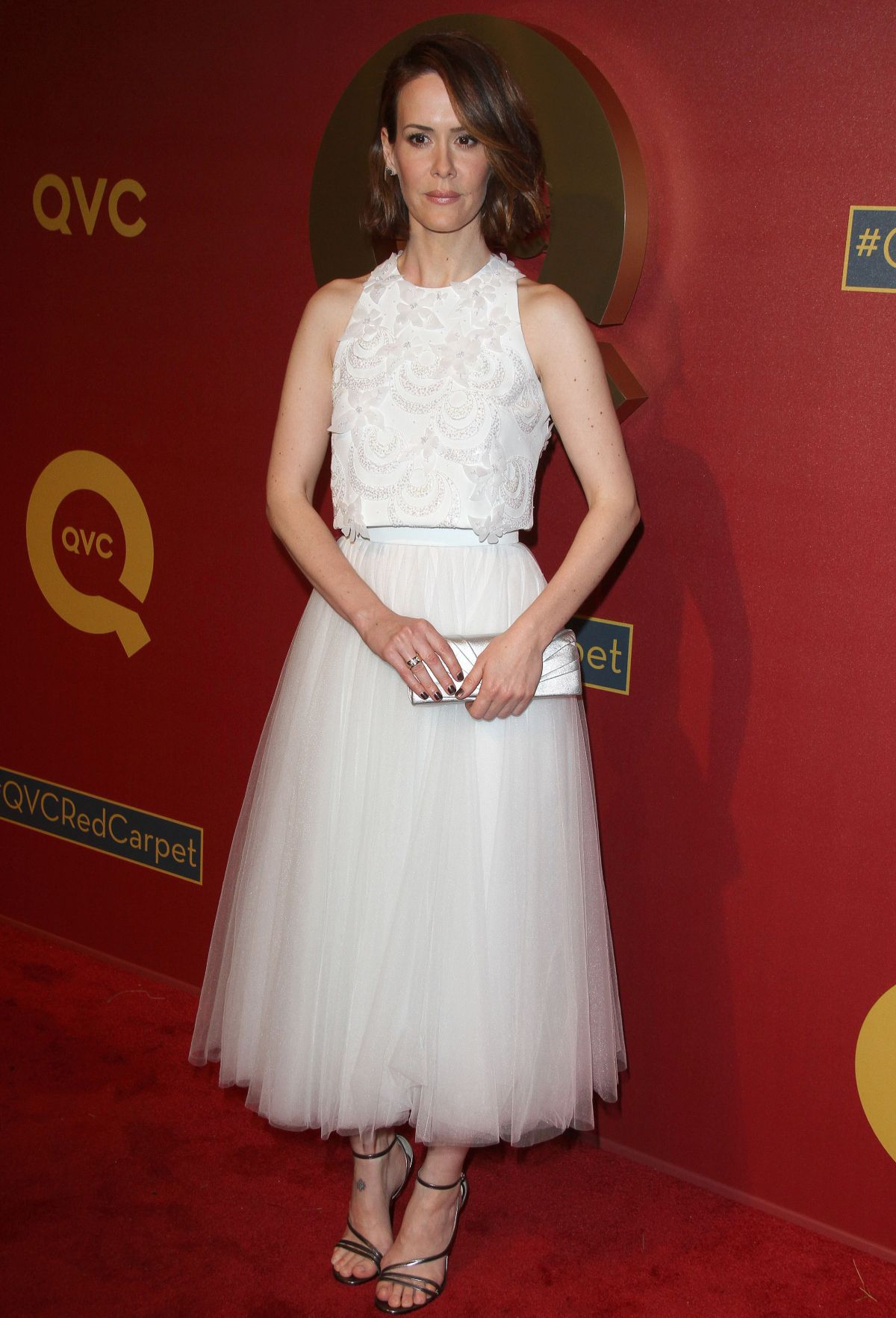 SARAH PAULSON at QVC 5th Annual Red Carpet Style Event in Beverly Hills