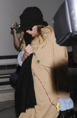 SCARLETT JOHANSSON Arrives at LAX Airport in Los Angeles